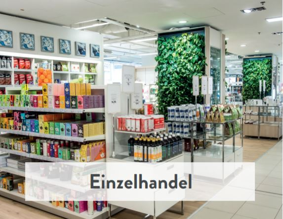 Naava Natur Trenwand für Einzelhandel